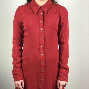 Free People Cinched Button Down Tunic